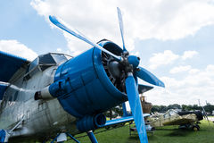 Plane with propeller in Aviation Museum in Krakow Royalty Free Stock Image