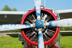Plane with propeller closeup Royalty Free Stock Photos