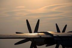 Plane propeller silhouette Stock Photos