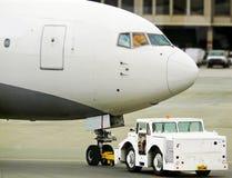 Plane push back Royalty Free Stock Photo