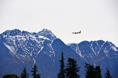 Plane Queenstown, New Zealand Royalty Free Stock Image