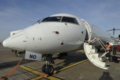 Plane Ready for Boarding Stock Photos