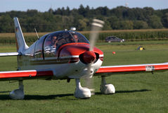 Plane ready for take-off. A plane ready for take off during a flight show Stock Image