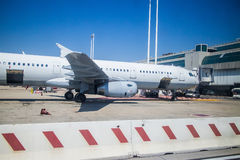 Plane is ready to load cargo Royalty Free Stock Images