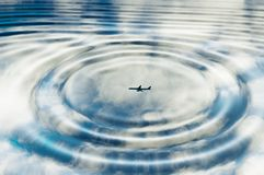 Plane reflection Royalty Free Stock Images