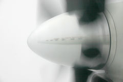 Plane reflection on propeller. Plane reflection in the propeller Royalty Free Stock Photography