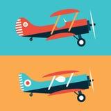 Plane-Ribbon-Flat Royalty Free Stock Photography