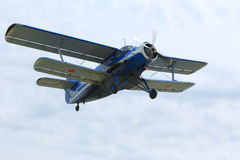 Plane An-2 in Rostov region, Russia. April 18, 2015. Royalty Free Stock Photography
