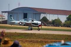 Plane on Runway at Air Show Stock Image