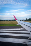 Plane on the runway Royalty Free Stock Photography