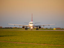 Plane on the runway Royalty Free Stock Photo