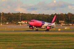 Plane on a runway Stock Photos