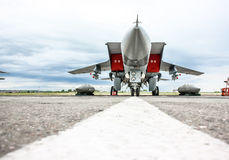 The plane on the runway Stock Photography
