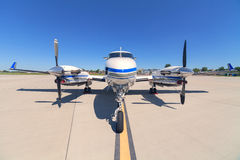 Plane on the runway Stock Photos