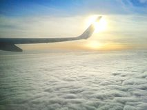 Plane's wing Stock Photography