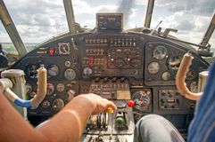 In plane salon Stock Images