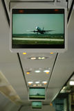 Plane screen with aeorplane on it. Royalty Free Stock Photos