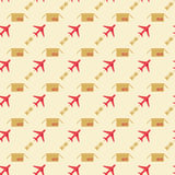 Plane and sending pattern Stock Images