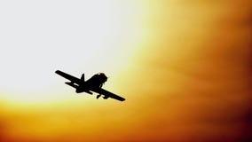 Plane shilhoutte Royalty Free Stock Image
