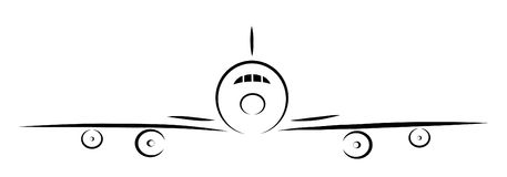 Plane silhouette Royalty Free Stock Photo