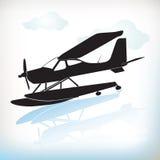Plane in silhouette Stock Photo