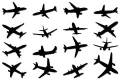Plane Silhouettes Royalty Free Stock Image