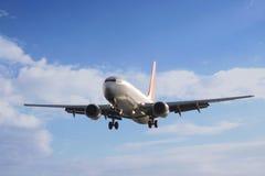 Plane and sky stock photo