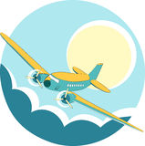 Plane in the sky Stock Image