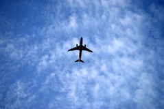 Plane in the Sky Royalty Free Stock Photography