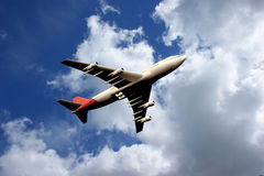 Plane in sky Stock Image