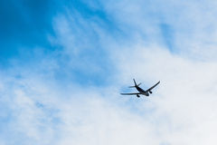 Plane in the Sky Royalty Free Stock Images