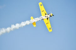 Plane on sky. Airplane flying in the sky Royalty Free Stock Photo