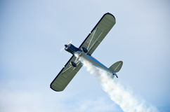 Plane on the sky during the airshow Stock Photography