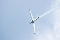 Plane on the sky during the airshow Royalty Free Stock Photos
