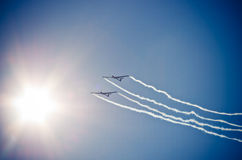 Plane on the sky during the airshow Royalty Free Stock Photography