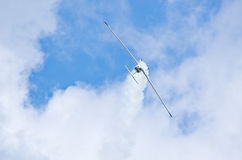 Plane on the sky during the airshow Stock Photo
