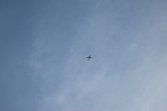 Plane on sky Stock Photography