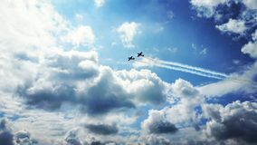 Plane in the sky stock photography