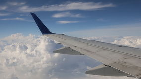 Plane sky clouds horizont stock video footage