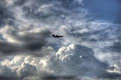 Plane in Sky Royalty Free Stock Photo