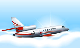 A plane in the sky. Illustration of a plane in the sky Stock Image
