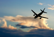 Plane in Sky Stock Images