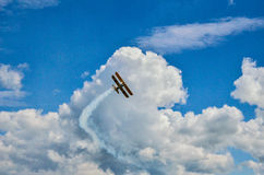 Plane on sky 2 Royalty Free Stock Images