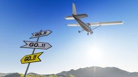 Plane in the sky Stock Photos
