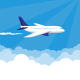 Plane in the Sky vector illustration Stock Photography