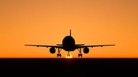 plane skyen Royaltyfri Fotografi