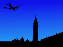 Plane And St Marks Square Royalty Free Stock Image