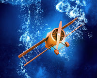 Plane symbol under water Stock Images