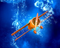 Plane symbol under water Royalty Free Stock Images