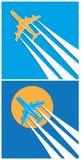 Plane symbols Royalty Free Stock Photos